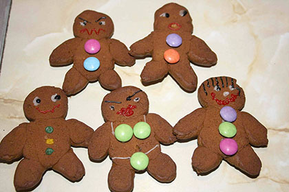 Jackie Cooper's Gingerbread Men (and one Woman)