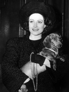 Joan with doggie - 1940