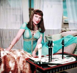 Ann Baxter,actress,movie still from The Ten Commandments