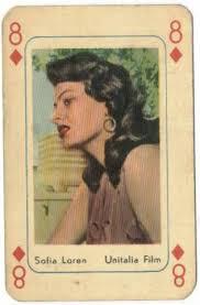 sophia loren playing card