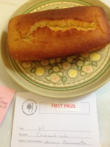 A first prize for my coconut cake - made to an Ottolenghi recipe.