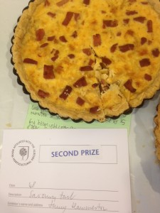 A second prize for my Anne Baxter's Genuine Swiss Quiche in the savoury tart category.