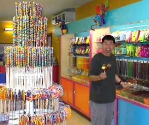 Kid in a candy store...