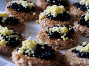 Gloria Swanson's Caviar Canapes