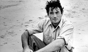GREGORY PECK ON THE BEACH