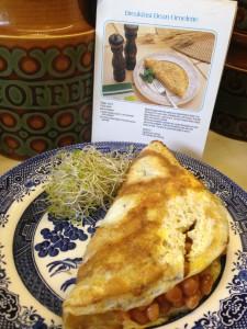Diana Dors Breakfast Bean Omelette