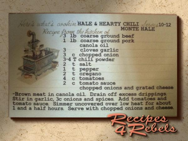 Hale & Hearty Chili