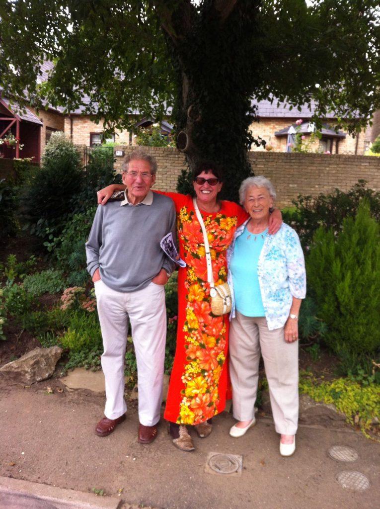Me and my folks under the walnut tree