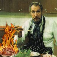 Vincent Price's Steak Moutarde Flambe (Flamed Mustard Steak)